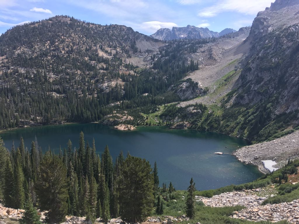 Alpine lake located on the Idaho Centennial Trail and Wild West Trail