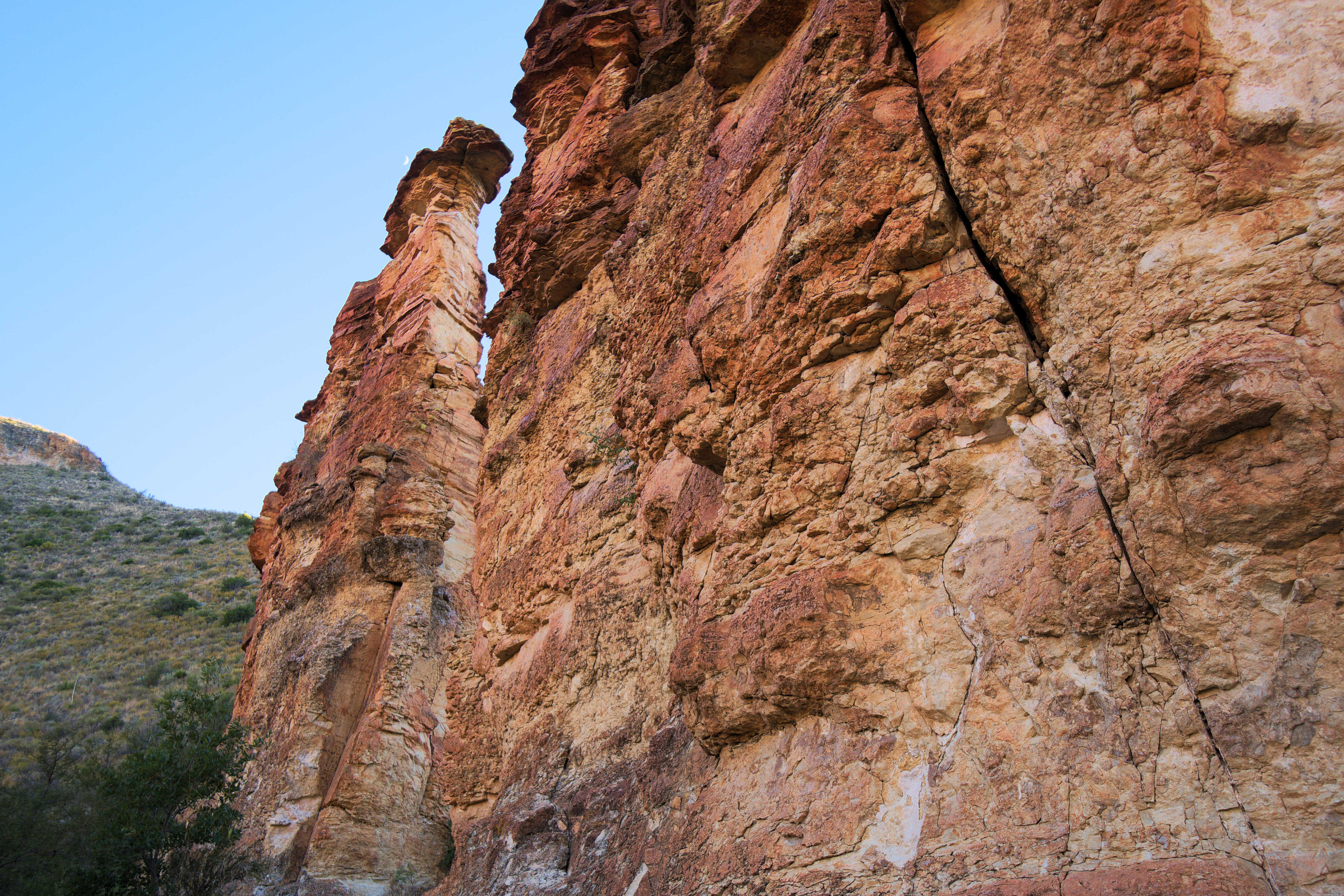Rock Formations in Blue Creek Canyon, Big Bend National Park