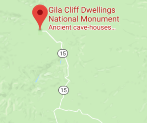 Map of Gila Cliff Dwellings National Monument