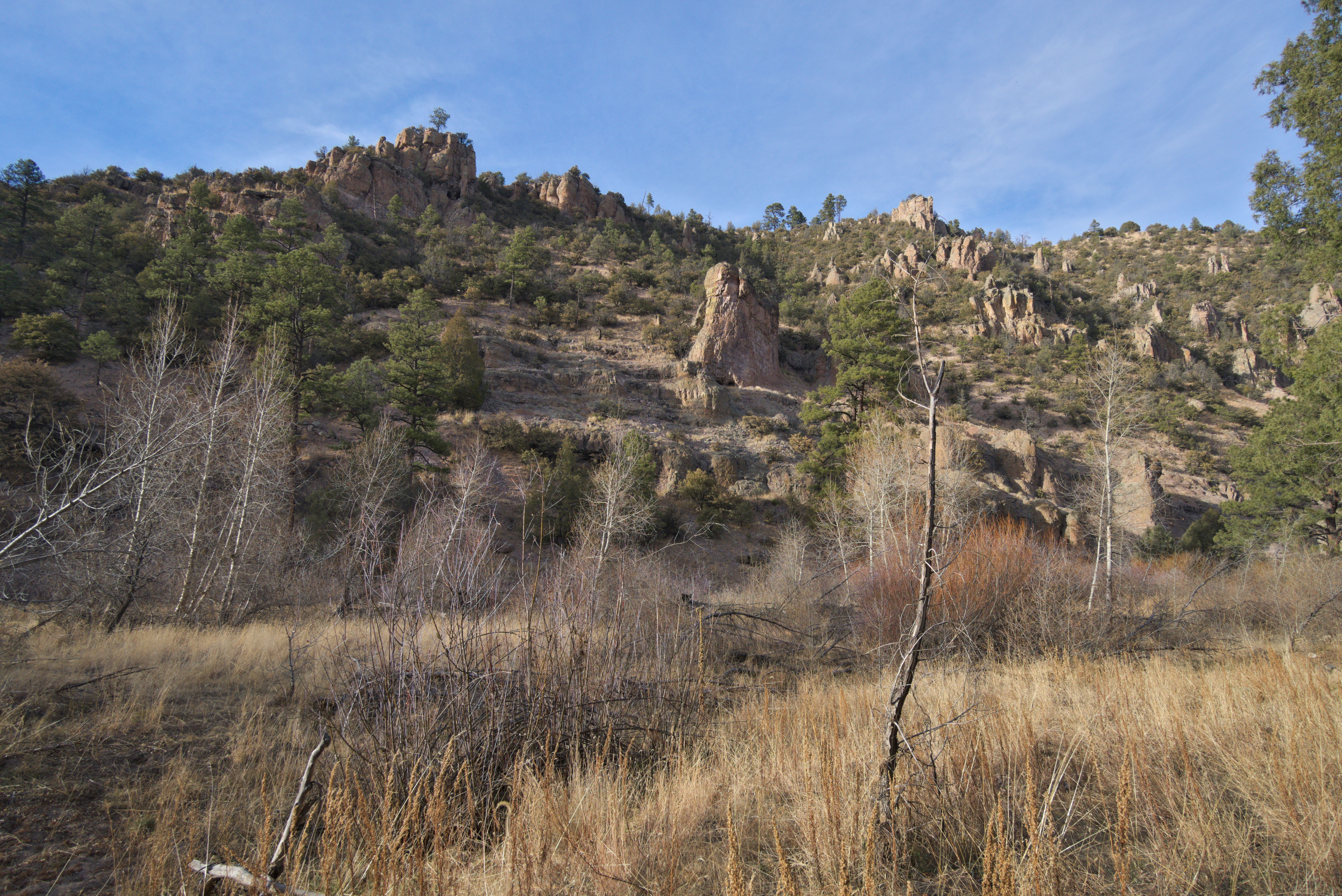 boulder covered hill in the Gila Wilderness, New Mexico