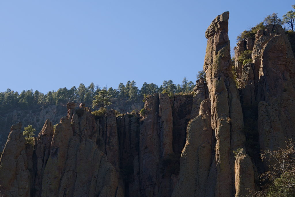 Rock formation in the Gila Wilderness, New Mexico