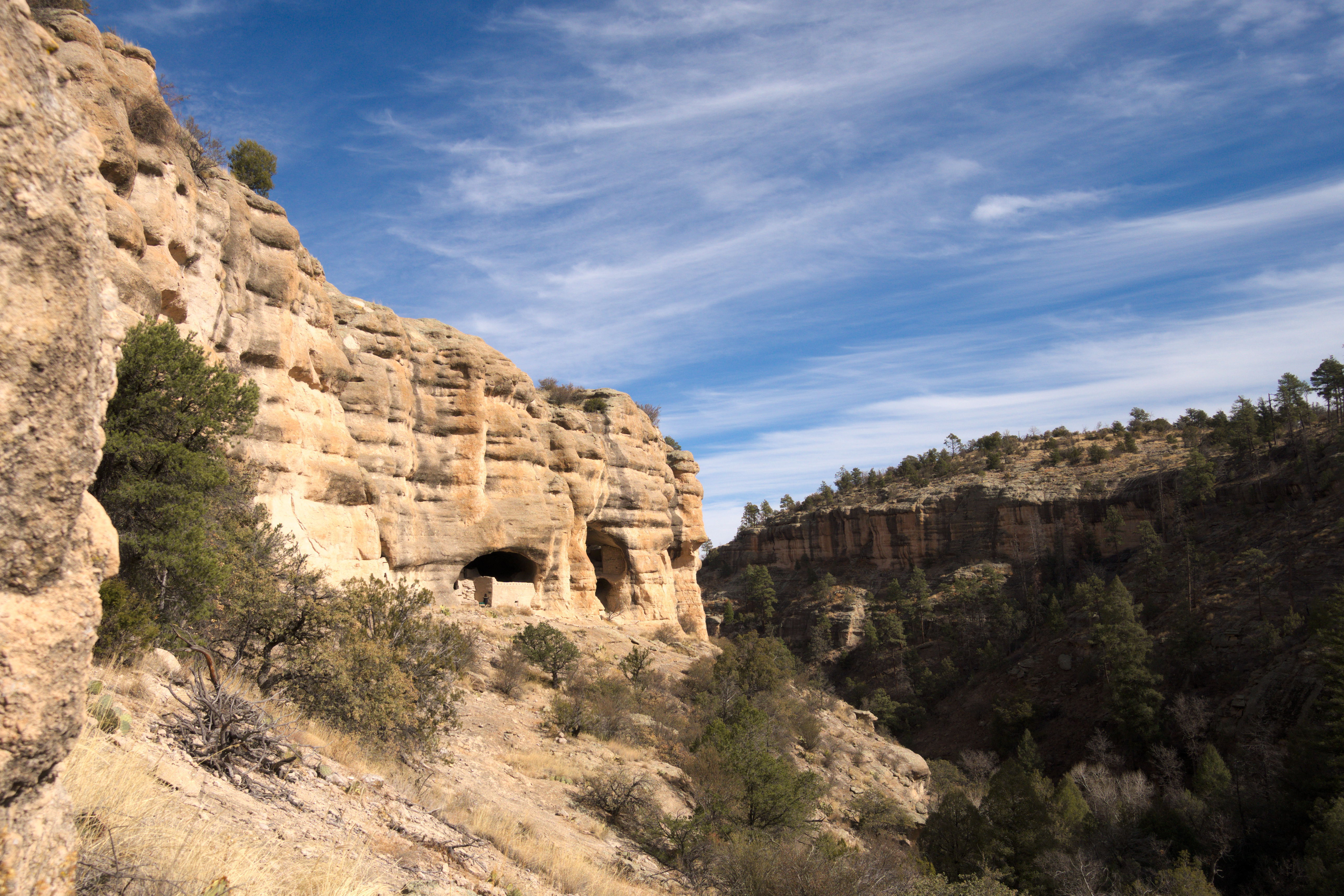 Walking into the Gila Cliff Dwellings, New Mexico