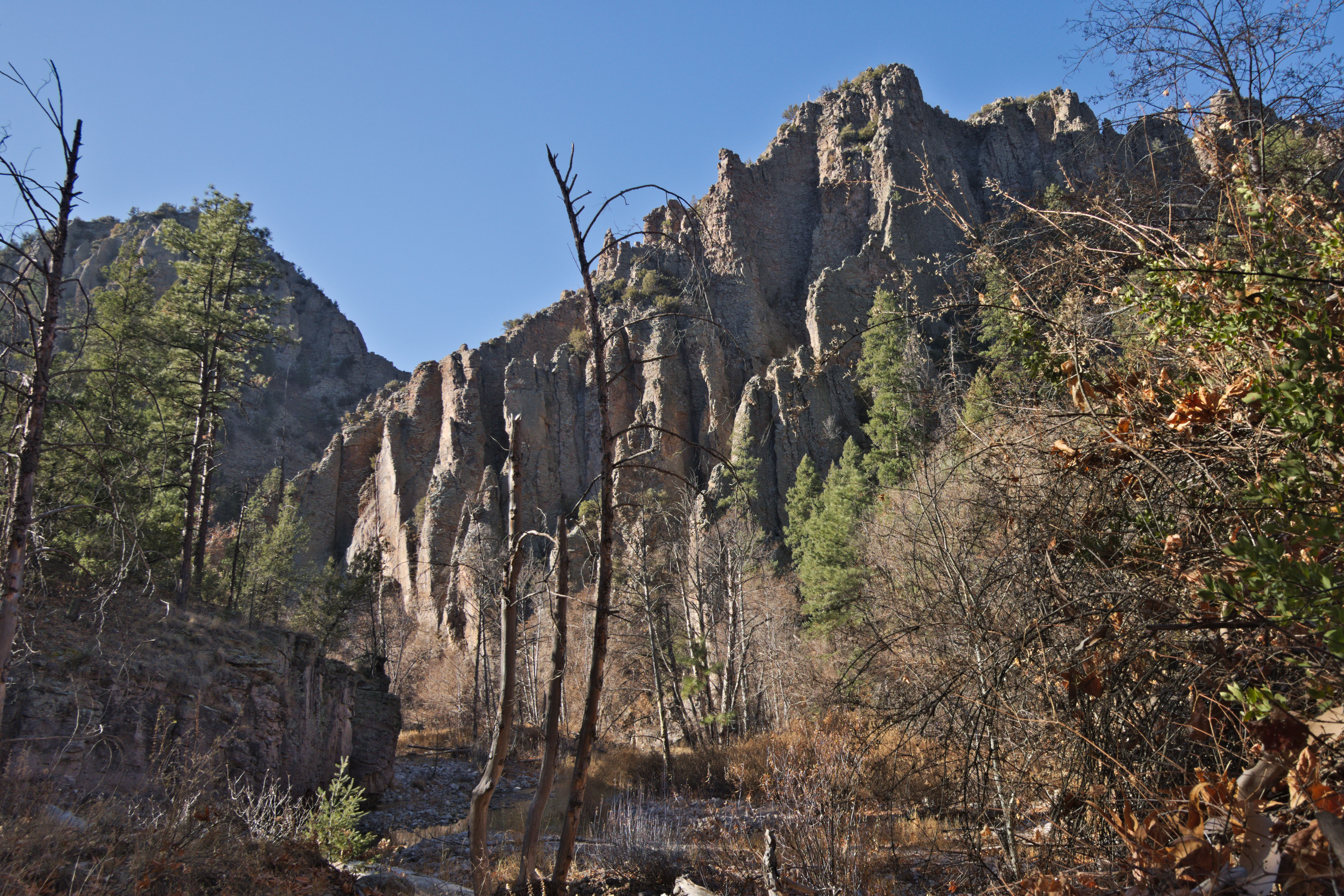West fork of the Gila River Canyon